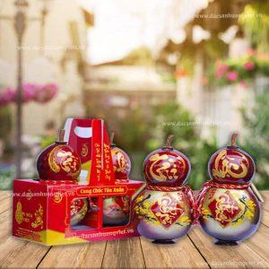 Rượu dừa hồ lô tết Tài Lộc