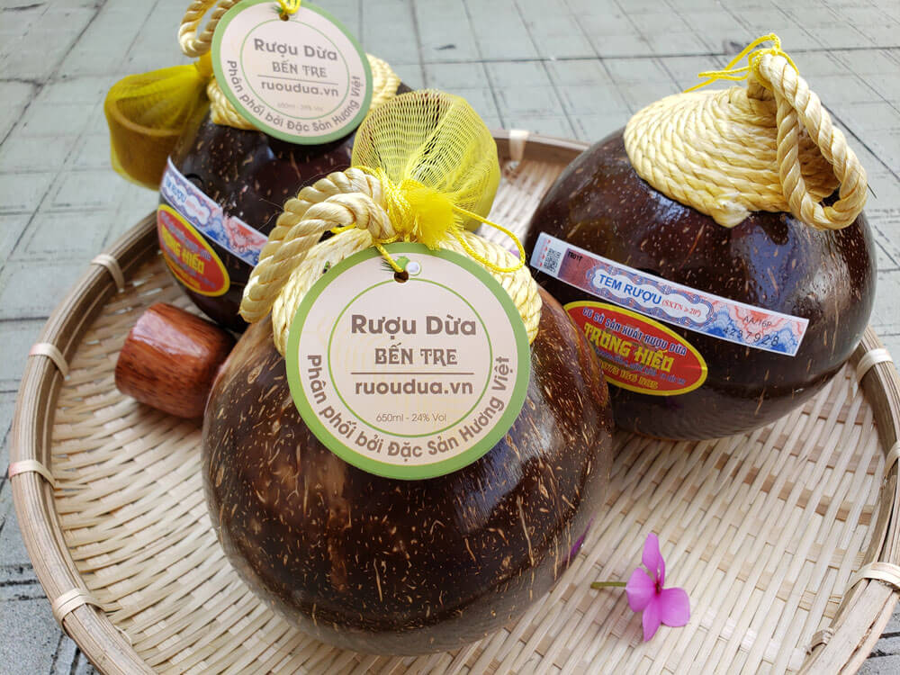 Rượu dừa Bến Tre mật hoa dừa 24 độ