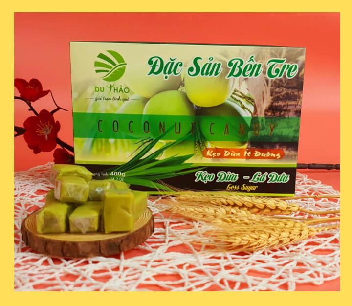 Kẹo dừa lá dứa Du Thảo 400g