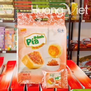 Bánh pía mini thịt chà bông bò Tân Huê Viên 12 bánh