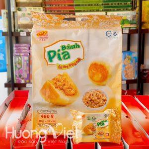 Bánh pía chà bông trứng muối mini Tân Huê Viên 12 bánh